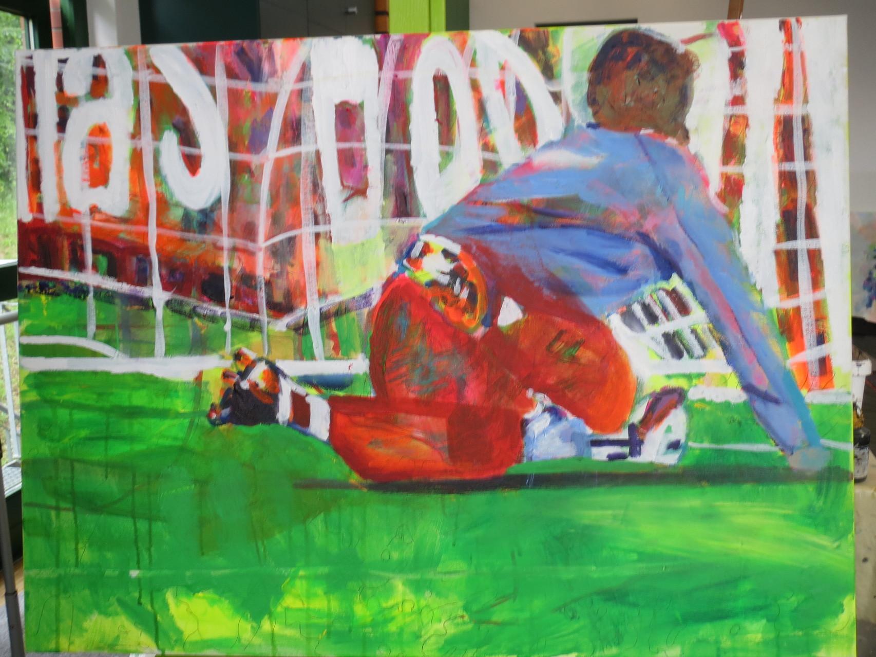 Fußball 7,   60x80   Acryl auf Leinwand