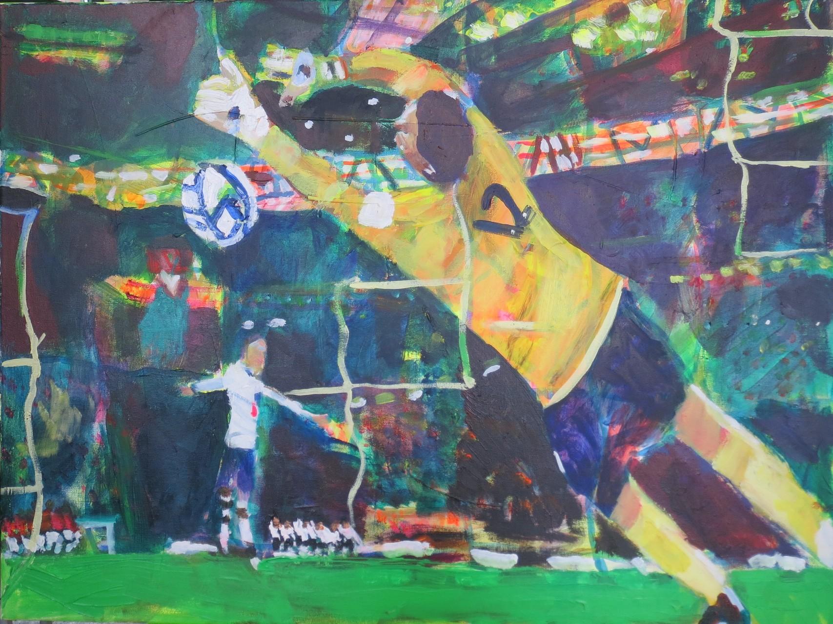 Fußball 8,  60x80   Acryl auf Leinwand