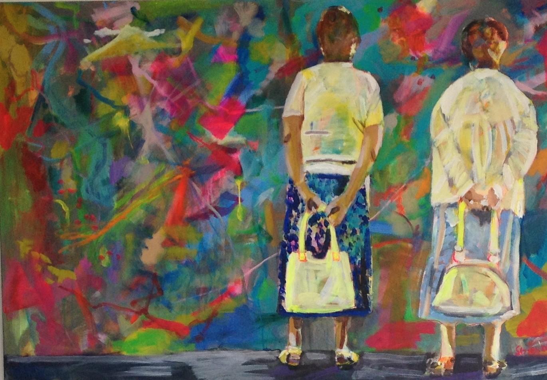 Ratlos 1,  80x120 acrylic on canvas