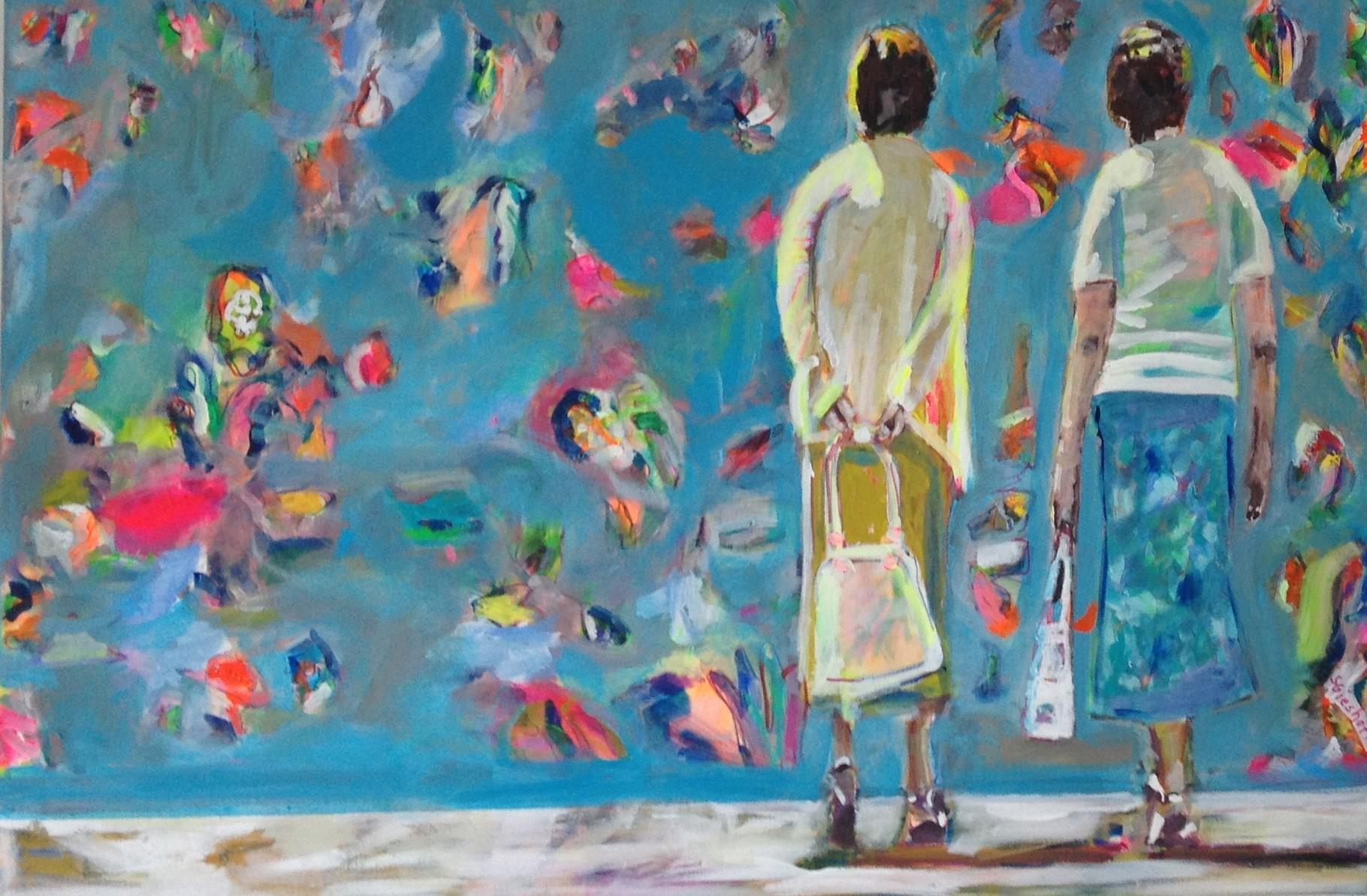 Ratlos 2,  80x120 acrylic on canvas
