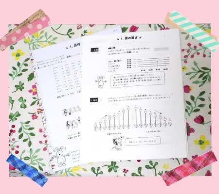 横浜市青葉区青葉台バイオリン・ビオラ教室 楽典ドリル画像