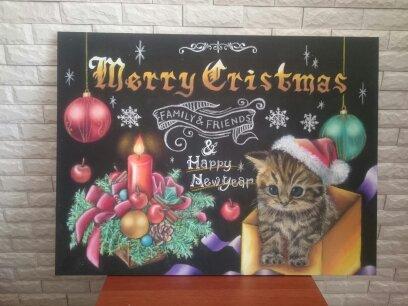 ペット似顔絵+クリスマスボード