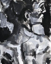 Woman, acrylic on paper 2009