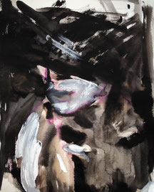 Evening Rose, acrylic on paper 2009