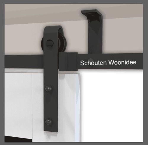 schuifdeursysteem plafond monteren, trapgat dicht maken met schuifdeur