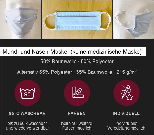 Alternative - wird geliefert, sollten die anderen Masken vergriffen sein!