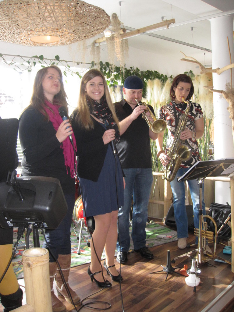 Nadine, Sara, Stefan und Sissi