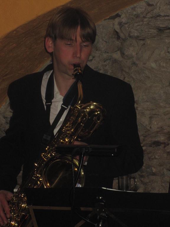 Unser Gast-Star Ronny Lutzmann am Bariton-Sax