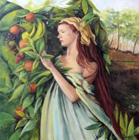 Fruit of paradise - Olieverf schilderij