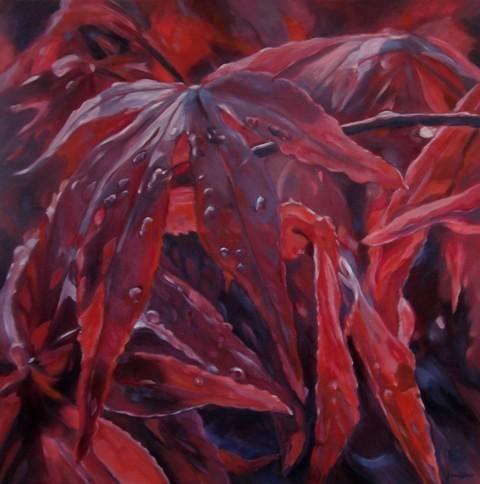 Acer-rubrum - Olieverf 80 x 80 cm