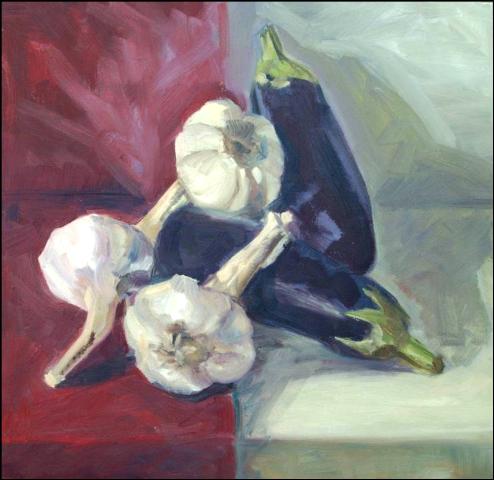 Hedendaags stilleven - Olieverf op doek  50 x 50 cm