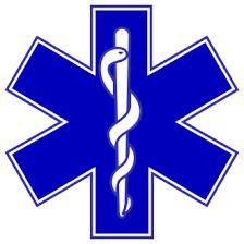 Logo Santé-Ambulancier-accompagnateur de voyage.Professionnel de santé.
