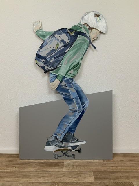 Ben, 123 x 78,5, Öl auf Aludibond 2020 (cutout, Ausstellungsansicht)