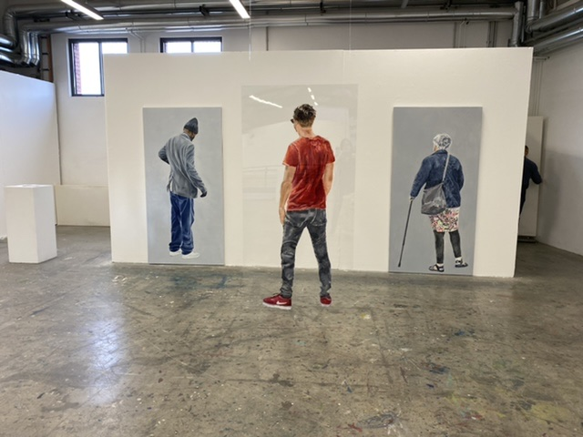 Ausstellungsansicht 1: Martin, Pascal, Gieselinde