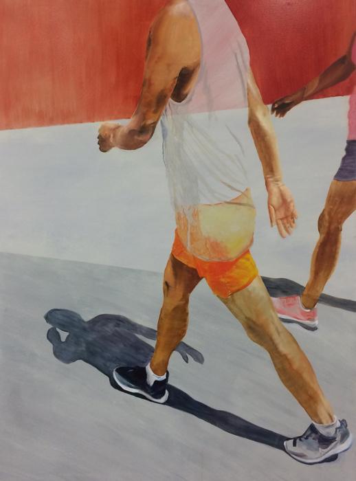 The Runners 1, 160x120cm Öl/Acryl auf LW 2018