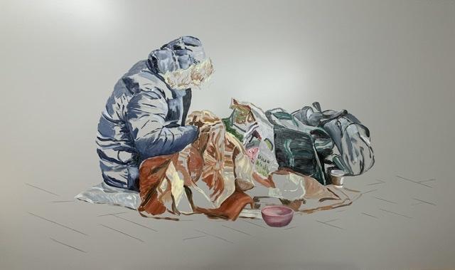 Hans-Jürgen, 60 x 100 cm, Öl auf Aludibond 2020
