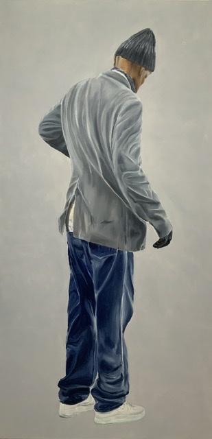 Martin, 200 x 100 cm, Öl auf LW 2019