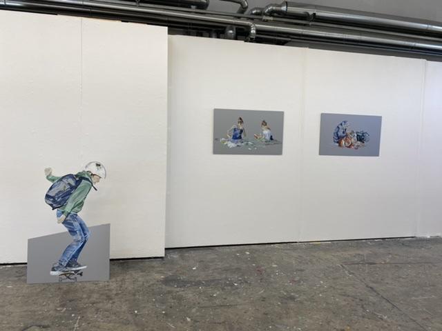 Ausstellungsansicht 2: Lisa und Sarah, Hans-Jürgen, Ben