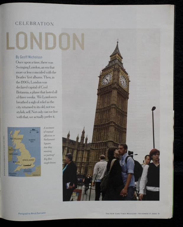 London for The New York Times Magazine
