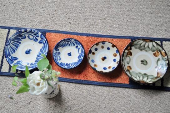 沖縄 やちむん 3.5寸皿¥900/5寸皿¥1500