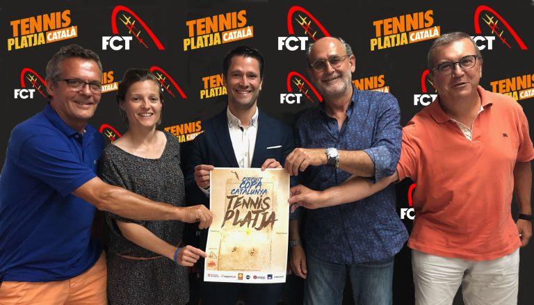 Alba Gamell presente en la presentación del Campionat de Catalunya absoluto de tenis playa 2019
