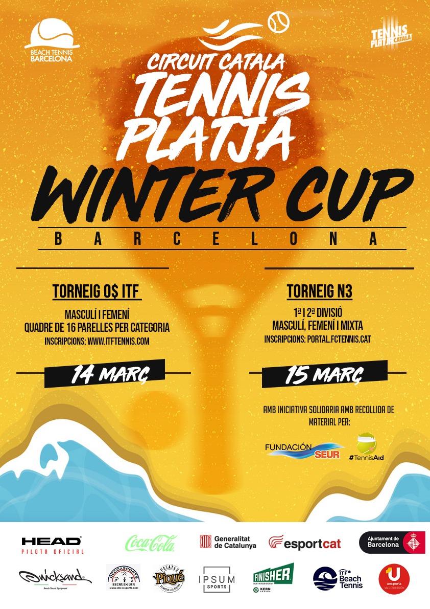 del 14 al 15 de marzo llega a Barcelona el mejor beach tennis con el ITF$0 Winter Cup en la instalación municpal Uesport Vall d'Hebron
