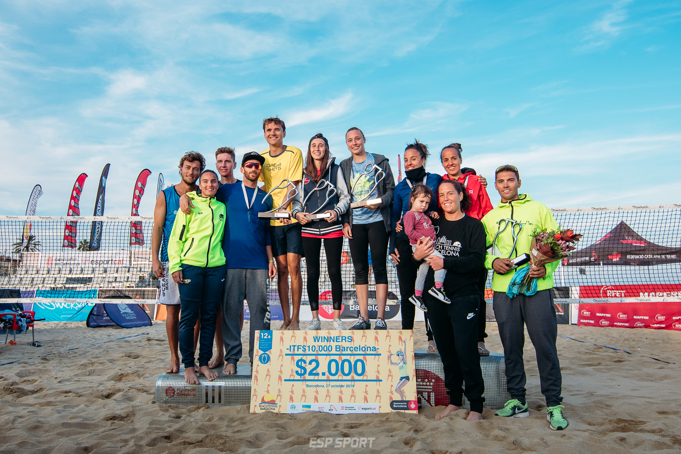 Exito de participación y de público en el 12è Trofeu Internacional Ciutat de Barcelona de tennis Platja!
