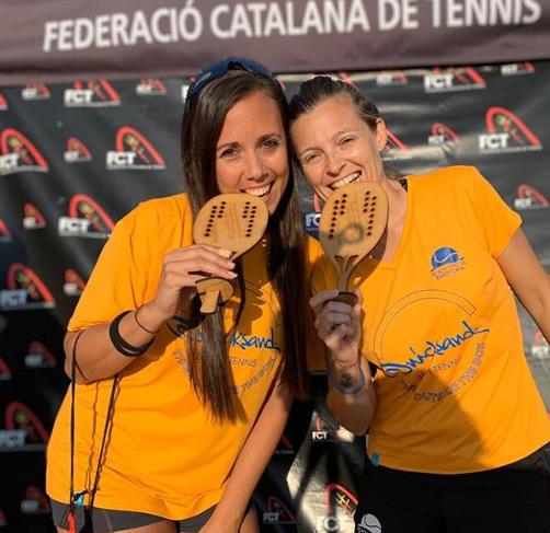 Alba Gamel y Carol Miranda se proclaman Campiones de Catalunya de Tennis Platja!