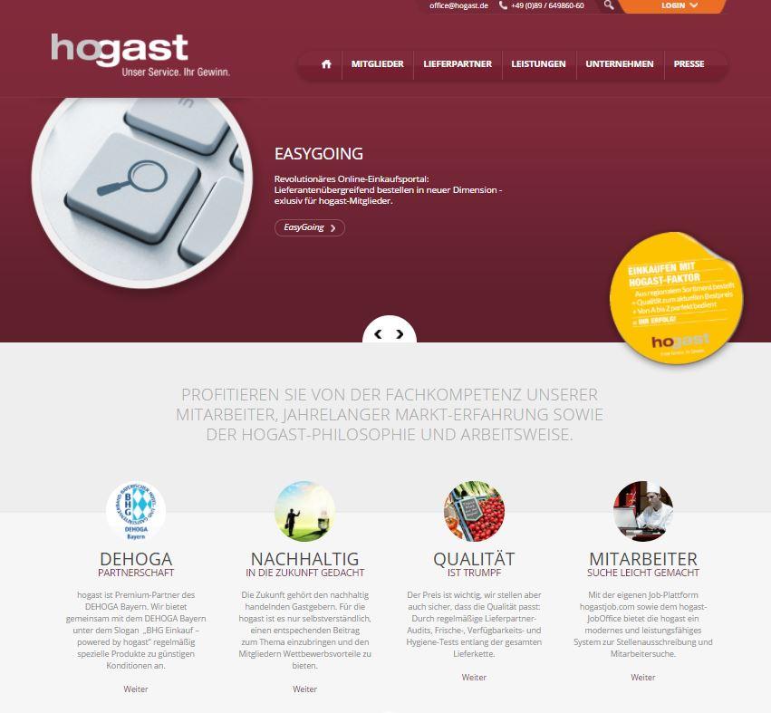 Hogast Webseite