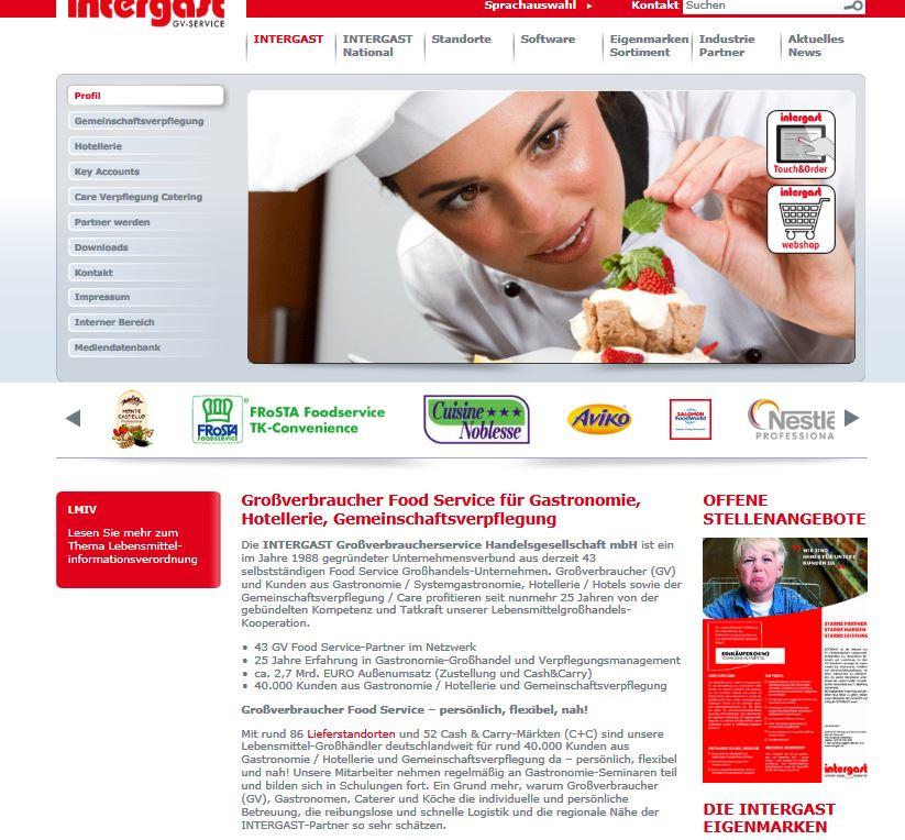 Intergast Webseite