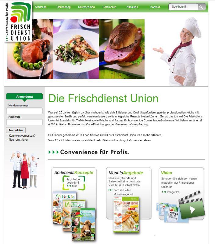 Webseite Frischdienstunion