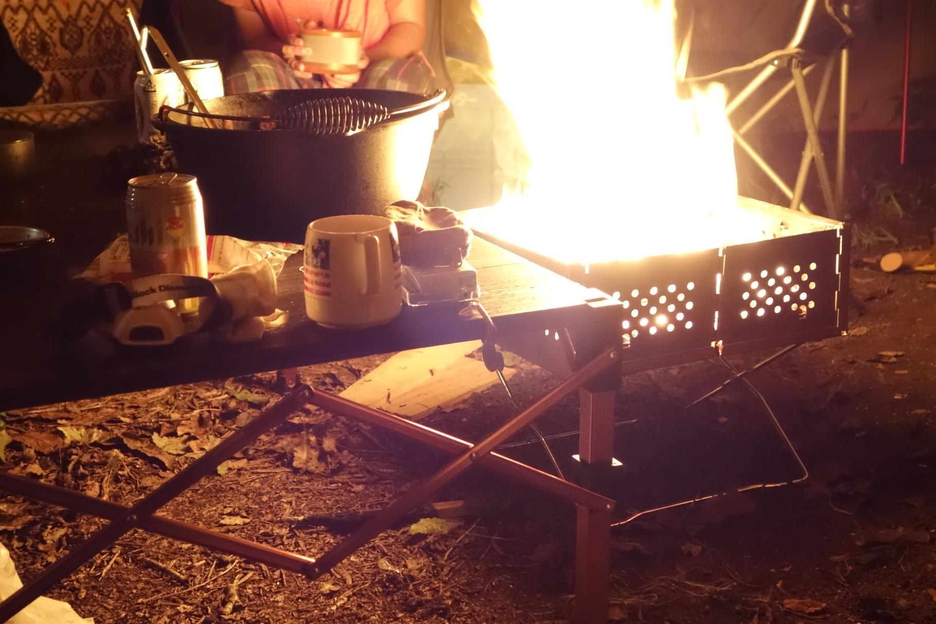 焚き火はいいですね。