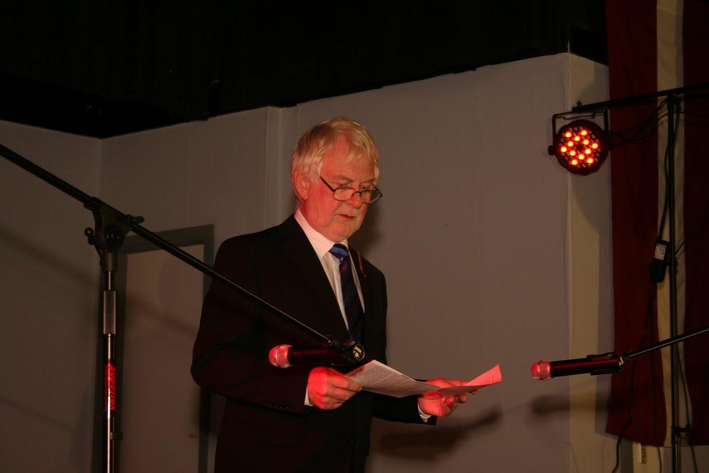 Latviešu biedrības Hamburgā priekšsēža Andra Zemīša svētku runa