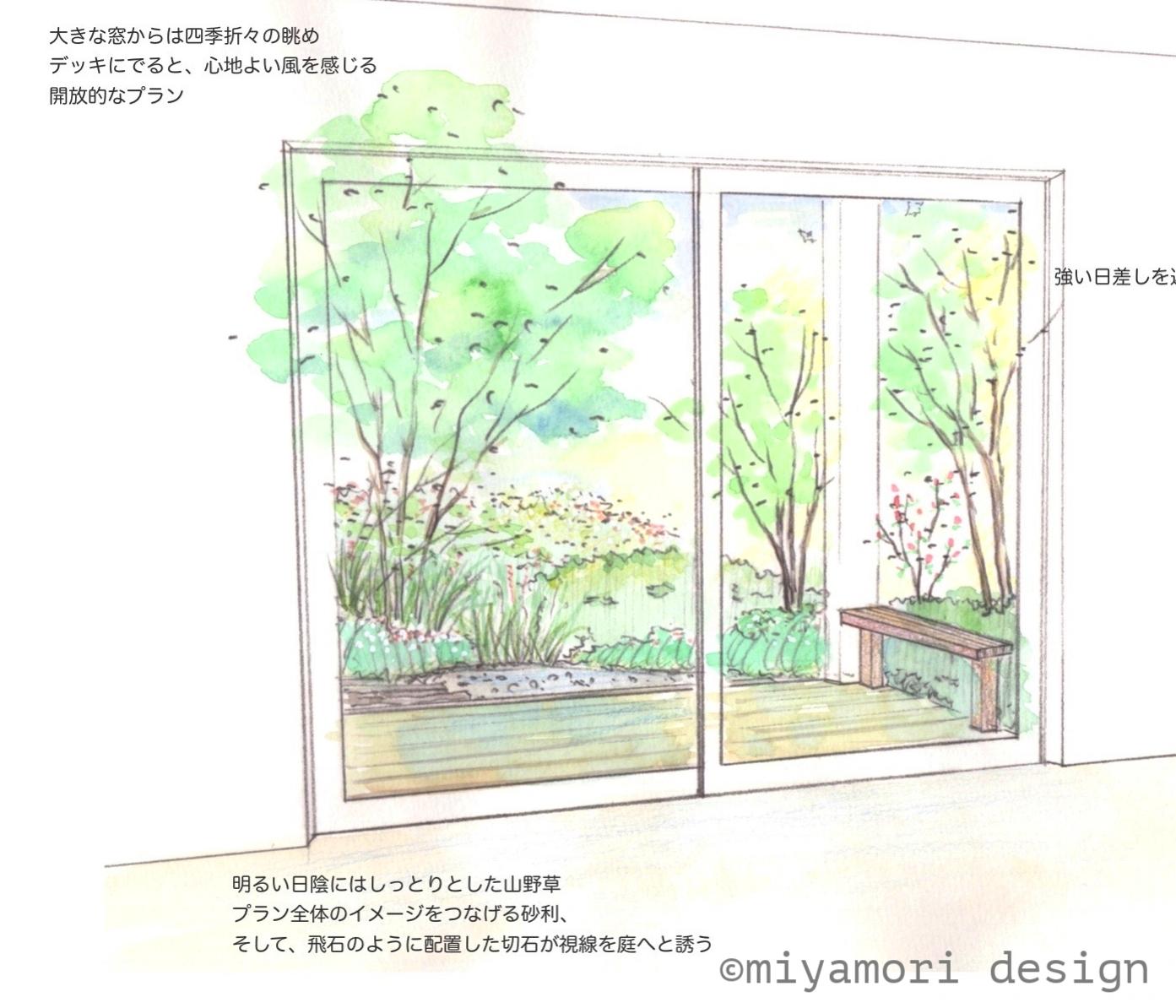 リビング前イメージスケッチ©miyamoridesign