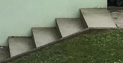 シンプルな階段:コルビジェ作、現Weissenhof Museum