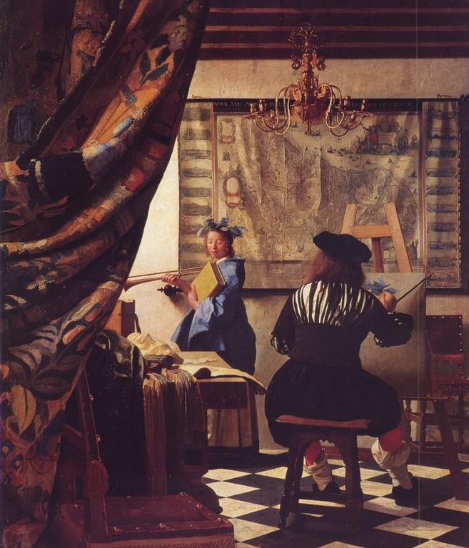 L'Art de la peinture, huile sur toile, 120 x 100cm, 1665 1666.