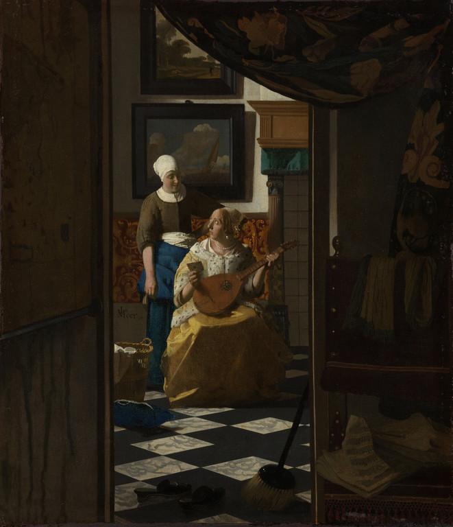 La Lettre d'amour, huile sur toile, 44 x 38,5cm, 1669-1670.