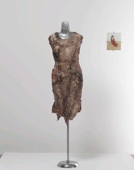 Vanitas - Robe de chair pour albinos anorexique de Jana Sterbak. (1987)