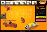 L'écran d'accueil du jeu : Mon ciné jouets.