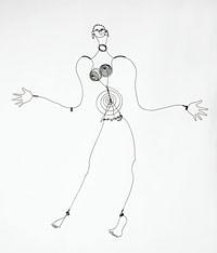 Joséphine Baker IV, vers 1928 Fil de fer, 100,5 x 84 x 21 cm Paris, Centre Pompidou, Musée national d'art moderne, don de l'artiste, 1966 © Calder Foundation New York / Adagp Paris.