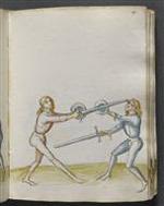 Traité de combat, Tradition de maître Johann Lichtenauer, fin XVème siècle. (Dans la salle de la chasse du Musée de Cluny)