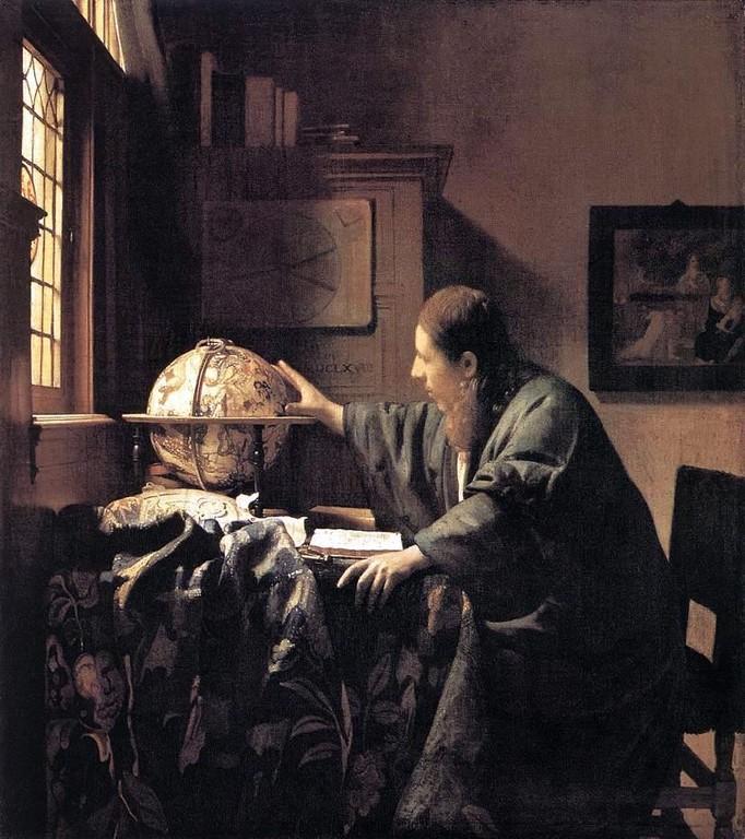 L'Astronome, huile sur toile, 51,5 x 45,5cm,1668.