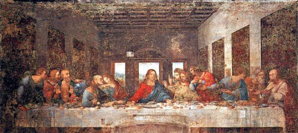 Peinture murale de 460 × 880 cm, réalisée de 1494 à 1498 pour le réfectoire du couvent dominicain de Santa Maria delle Grazie à Milan.