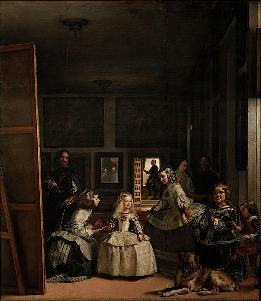 Diego Velásquez, Les Ménines, huile sur toile, 318 × 276 cm, 1656, Musée du Prado à Madrid.