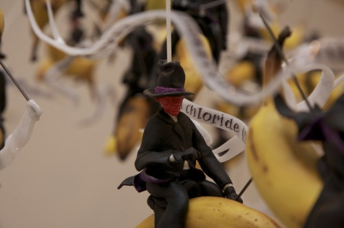 Gilles Barbier Banana Riders, 2009, technique mixte, 80x350x150 cm
