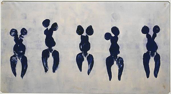 Anthropométrie de l'époque bleue (ANT 82), 1960 Pigment pur et résine synthétique sur papier monté sur toile 155 x 281 cm Achat, 1984 AM 1984-279  © Adagp, Paris