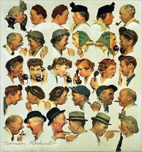 Norman Rockwell, The gossips (les commérages), 1948.