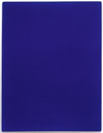 Monochrome bleu (IKB 3), 1960 Pigment pur et résine synthétique sur toile marouflée sur bois  199 x 153 x 2,5 cm