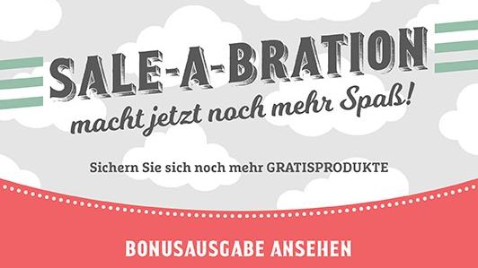 Sale-A-Bration Sale a Bration Stampin' Up!  Stampin up Gratis Produkt Glitzerpapier