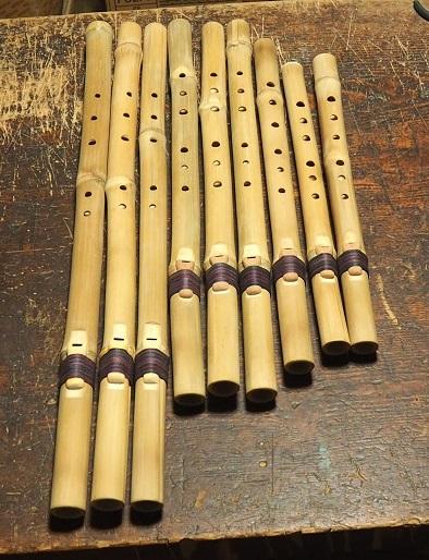 虚空の笛・新虚空の笛~真竹製インディアンフルート~製作中 ひも巻き